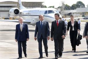 Ministros Gilmar Mendes (Presidente do STF) e Mauro Campbell (STJ)