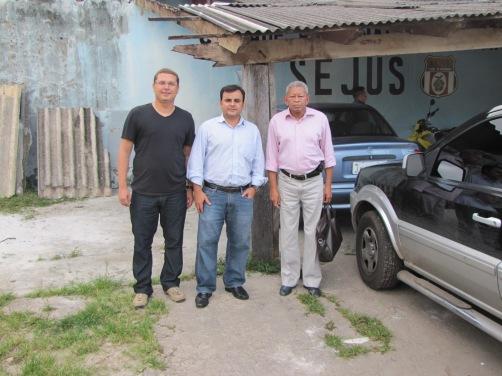 Promotor André Seffair, Juiz Itamar Gonzaga (Parintins) e Desdor. Sabino marques (Presidente do Grupo Permanete de Fiscalização do Sistema Penitenciário do TJAM)